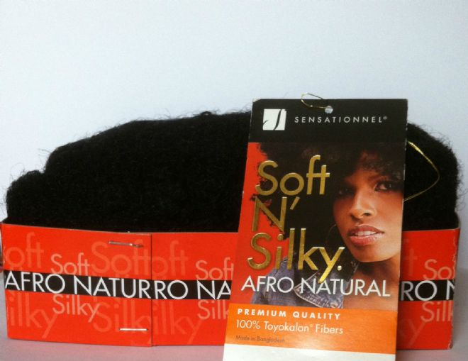 AFRO TWIST PUFF WEAVE SENSATIONNEL SOFT N' SILKY  HAIR- 6 INCH